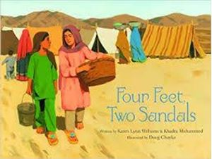 Picture of Four feet, two sandals